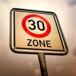 Tempo 30 Ortsdurchfahrt Bundes- und Landesstraße