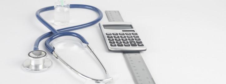 Taschenrechner mit Stethoskop