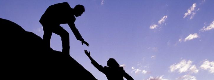 Hilfe reichende Hand