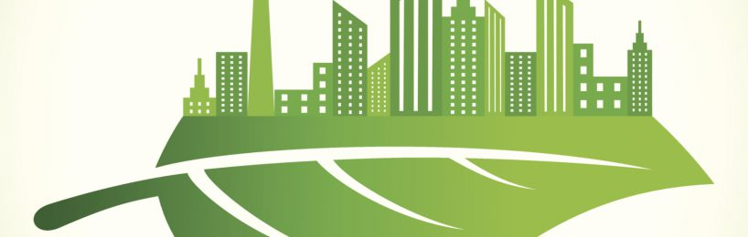 grünes Blatt Stadt