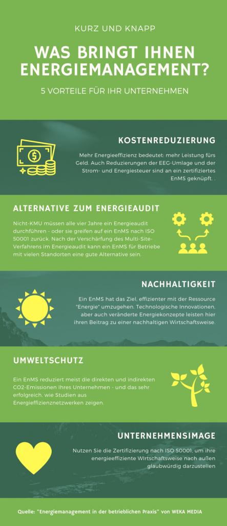 Infografik Energiemanagement
