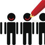 Dem Kunden durch ein Produkt oder eine Dienstleistung zufriedenstellen und ein Lächeln ins Gesicht zaubern