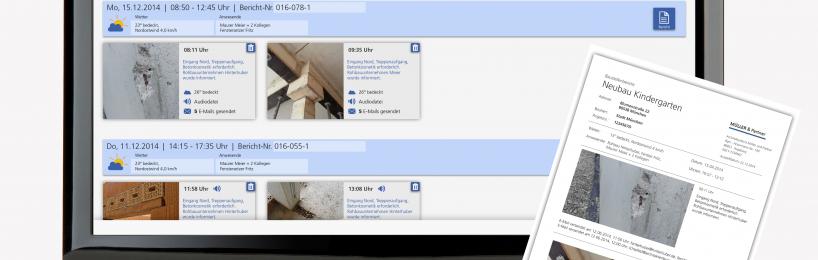 Bautagebuch erstellen mit der neuen Software Baudokumentation smart & easy