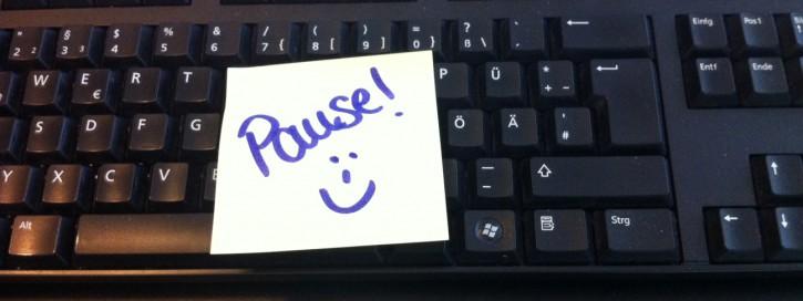 Planen Sie sich regelmäßig kleine Pausen bei der Arbeit ein