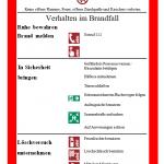 Brandschutzordnung - Teil A