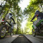 Motorräder Straßensperrung