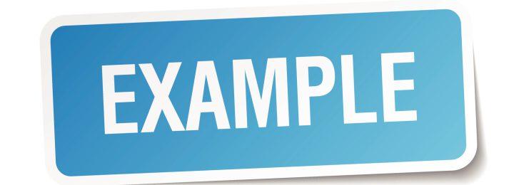 "Schild mit ""Example"""
