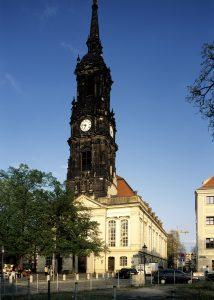 Die Dreikönigskirche bietet einen ungewöhnlichen aber sehr attraktiven Rahmen.
