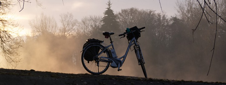 E-Bike in sundown