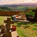 In der Pause auf den Friedhof