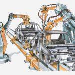 Maschine zur Autofertigung