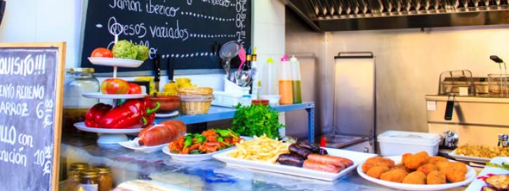 Preistafel in Tapas-Bar