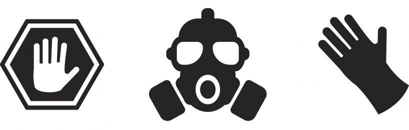 Gasmaske Chemikalienschutzhandschuh
