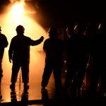 Feuerwehr bei Industriebrand