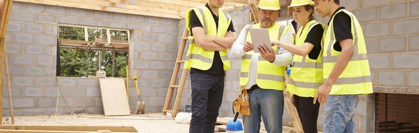 Unterweisung Baustelle