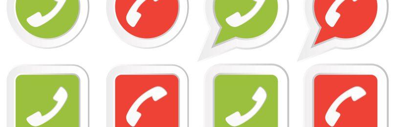 Icons mit Telefon