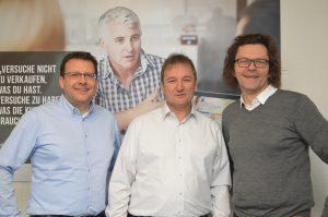 WEKA-Geschäftsführer Michael Bruns, Werner Pehland und Stephan Behrens stellen ihre neue Strategie vor