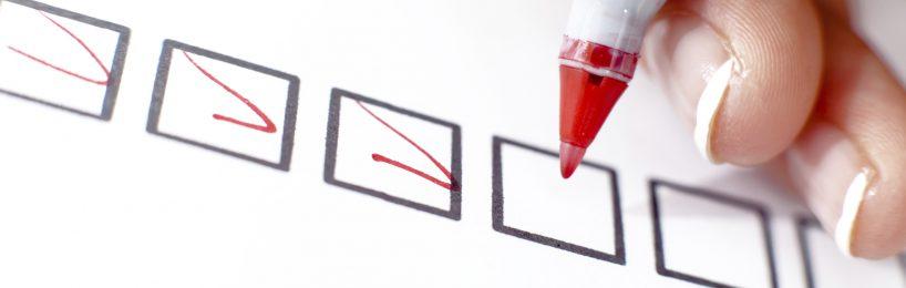 Fragebogen Checkliste