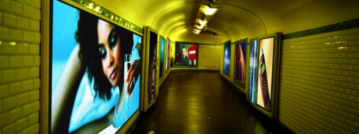 View of a passage in a subway