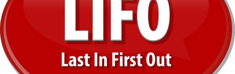 LIFO - Last in first out