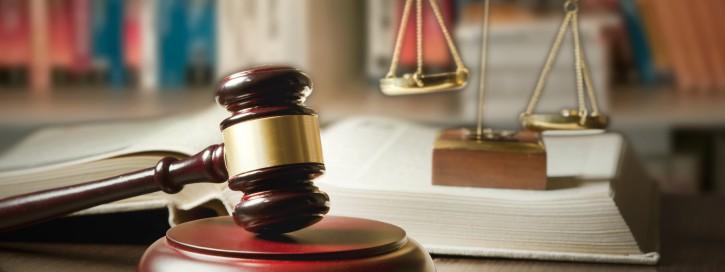 Judge gavel in court