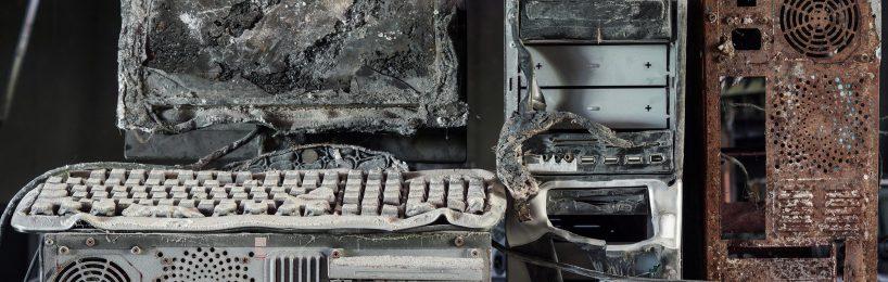 verbrannte Hardware