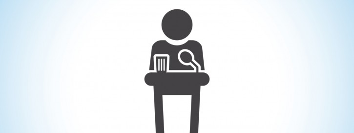 Podium icon public speaking vector icon