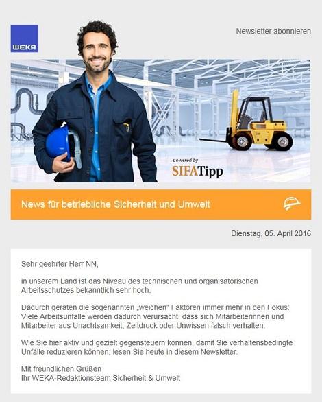 Newsletter fuer Sicherheit und Umweltschutz