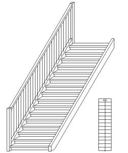 Skizze-Treppe