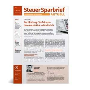 SteuerSparbrief AKTUELL