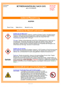 Muster-Betriebsanweisung Aceton