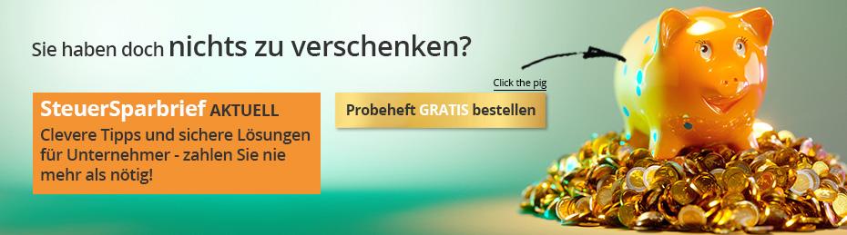 """Der Beratungsbrief für Unternehmer: """"SteuerSparbrief Aktuell"""""""