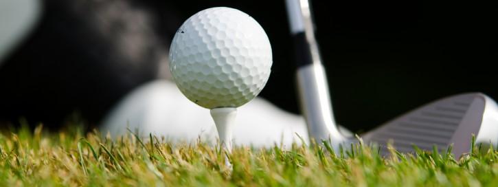 banner vom golfabschlag