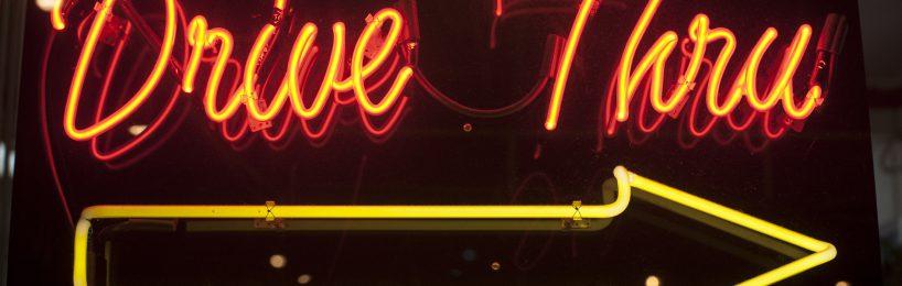 Neonschild Drive-In