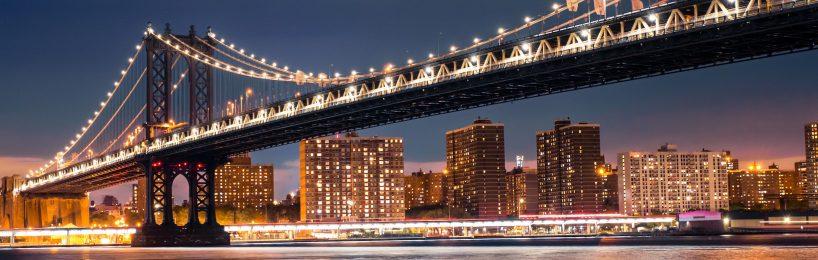 Beleuchtungsanlagen im Freien nach VDE 0100-714: Manhattan bridge NYC