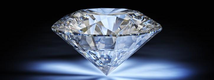 diamond classic cut on white background