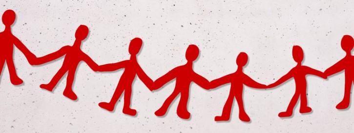 Menschenkette im Kalirevier