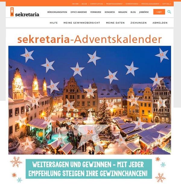 sekretaria.de - Adventskalender