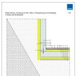 CAD-Detail: Weiße Wanne, Gründung mit WU- Beton, Flachgründung mit Arbeitsfuge in Ebene der Bodenplatte