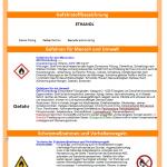 Muster-Betriebsanweisung Ethanol