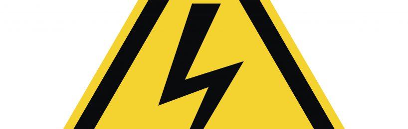 Warnzeichen elektrische Gefährdung