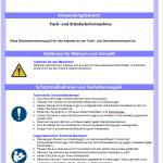 Muster-Betriebsanweisung Ständerbohrmaschine
