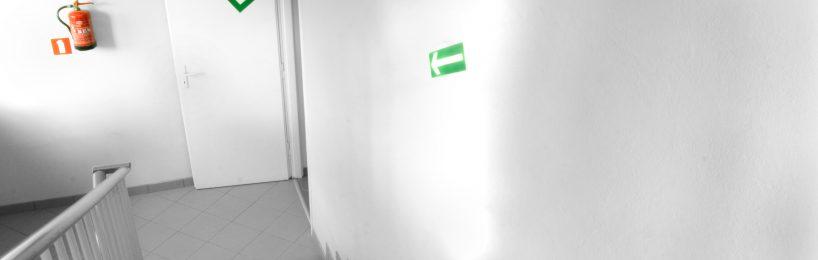 Fluchtweg Treppenraum