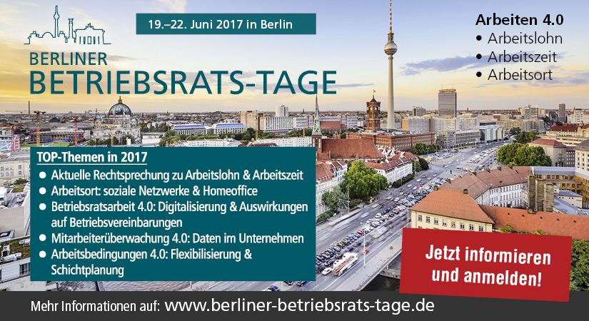 Berliner Betriebsrats-Tage 2017