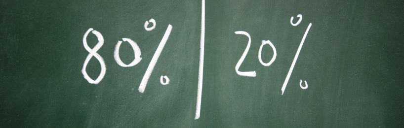 Pareto-Analyse nach dem 80/20-Prinzip