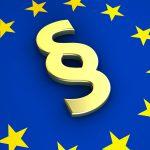Paragraph auf EU-Flagge