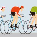 Radler auf Etappe der Tour de France