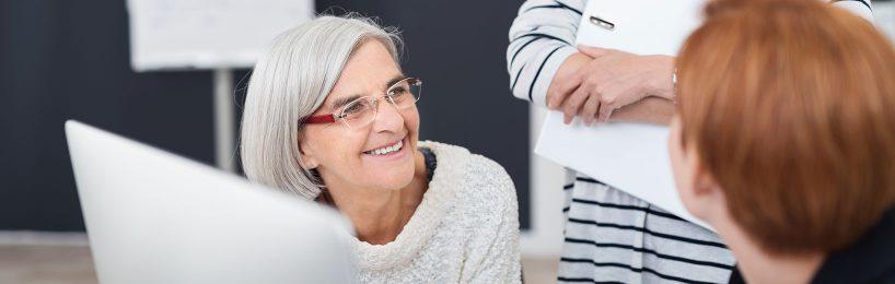Arbeitnehmerin im Rentenalter