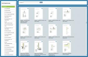 CAD-Details: Schnelle Suche nach Bauteilen, Materialien, Kostengruppe und Anforderung