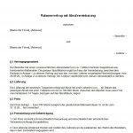 Rahmenvertrag mit Abrufvereinbarung - Vertragsmuster